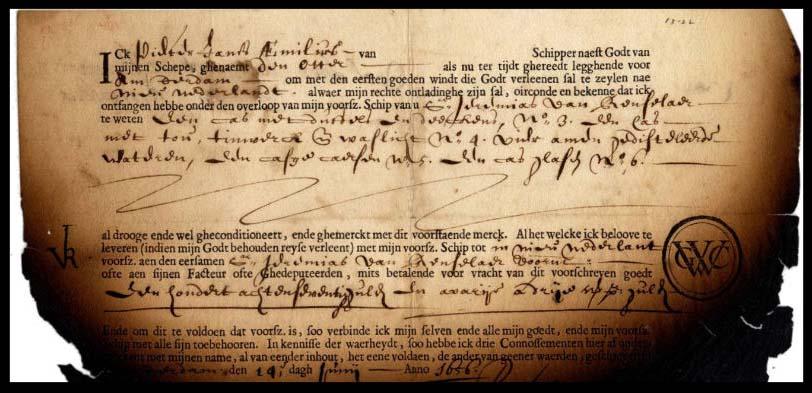 bill of landing en la historia